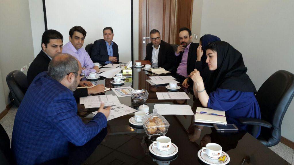 جلسه شروع پروژه تعالی سازمانی در معاونت بانکداری الکترونیکی بانک آینده