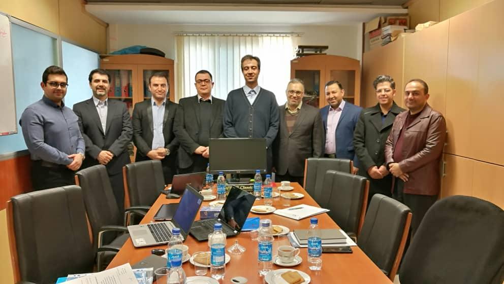 جلسه اختتامیه پروژه شرکت ملی گاز
